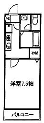 東京都町田市根岸町の賃貸マンションの間取り