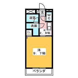 本田サンハイツ[3階]の間取り