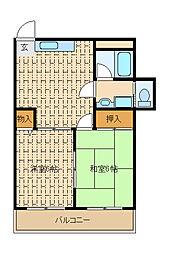 プラザエノモト2[4階]の間取り