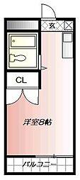 クロスロード清水[4階]の間取り