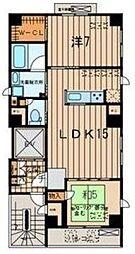 神奈川県横浜市西区南幸2丁目の賃貸マンションの間取り