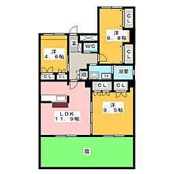 愛知県名古屋市昭和区緑町1丁目の賃貸マンションの間取り