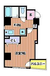 ジオンII[3階]の間取り