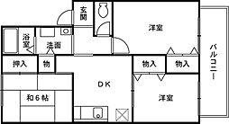 紙屋ハウス3番館[1階]の間取り