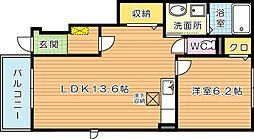 ラメゾンカプリス[1階]の間取り