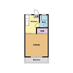 コーポ青木[1階]の間取り