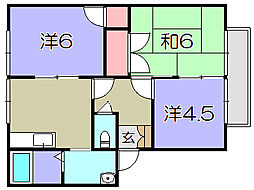 フローラルハイツ清水[2階]の間取り