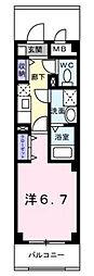 東京都三鷹市大沢6丁目の賃貸マンションの間取り