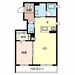 (仮称)堺市東区シャーメゾン西野 1階1LDKの間取り
