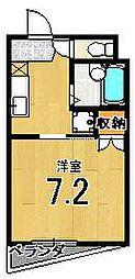 メゾン徳大寺[301号室]の間取り