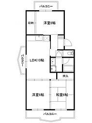 シャルマン87[3階]の間取り
