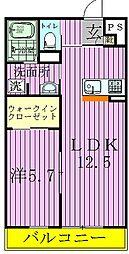 リブリ・CHK[1階]の間取り