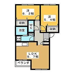 グランシャリオ大原[2階]の間取り