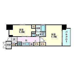 エステムプラザ梅田・中崎町IIIツインマークスサウスレジデンス[6階]の間取り