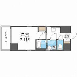 サムティ福島Rufle(ルフレ) 10階1Kの間取り