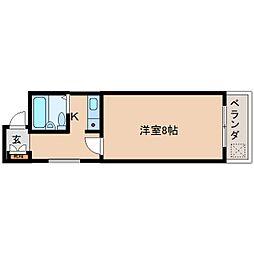 奈良県奈良市阪新屋町の賃貸マンションの間取り
