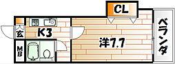 ベイサイドフラッツ[2階]の間取り