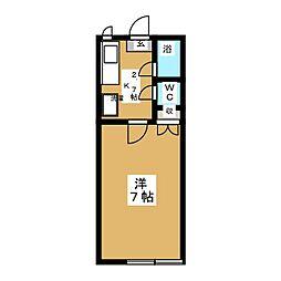 ヴェルドミールA[1階]の間取り