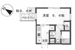 SDGs KITASHINAGAWA 4階1Kの間取り