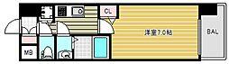 大阪府大阪市中央区玉造2の賃貸マンションの間取り