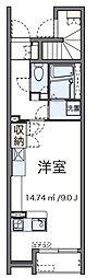 東京都足立区六月2丁目の賃貸アパートの間取り