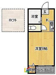サクセス南福岡[101号室]の間取り