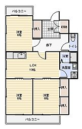ガーデンヒルズ藍住II[2階]の間取り
