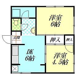 三宅ビル[4階]の間取り