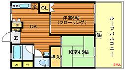 東京都三鷹市井の頭4丁目の賃貸マンションの間取り