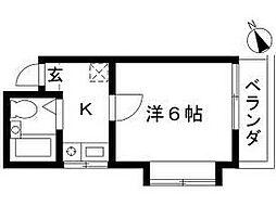 千葉県船橋市本町4丁目の賃貸アパートの間取り