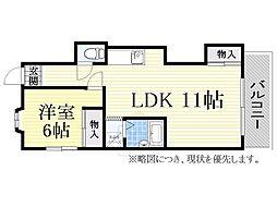 多田マンション[30B号室]の間取り