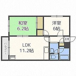 北海道札幌市白石区北郷三条3丁目の賃貸マンションの間取り