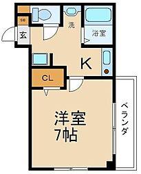M`PLAZA参番館[4階]の間取り