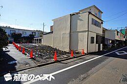 西武新宿線上井草駅徒歩圏内。3方角地にあり、日当り、通風良好建築条件無、建物参考プランあり。