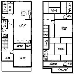[一戸建] 大阪府高石市取石1丁目 の賃貸【/】の間取り