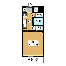 ラズベリー巾下[6階]の間取り
