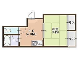 シティハイム浅香[3階]の間取り