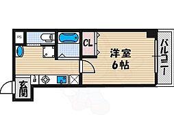 我孫子88マンション 4階1Kの間取り