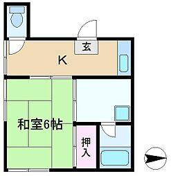 ハイム村岡[2階]の間取り
