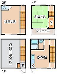 [テラスハウス] 兵庫県神戸市中央区神若通1丁目 の賃貸【/】の間取り