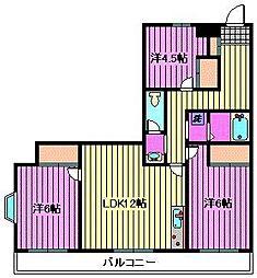 グリーンヒル櫛引[3階]の間取り