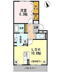 レジデンスKouga A棟[2階]の間取り