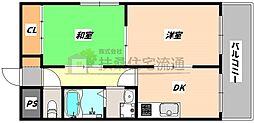 大阪府大阪市北区天神橋2丁目の賃貸マンションの間取り