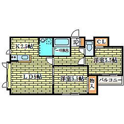 ミドリMSII[2階]の間取り