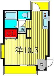 ジュネパレス新松戸第35[2階]の間取り