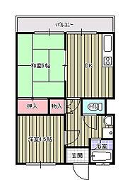 横山ビル[603号室]の間取り
