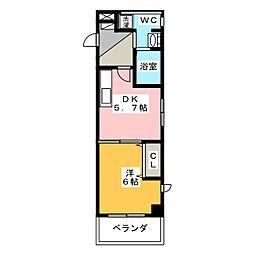 ソレイルコート桜本町[7階]の間取り
