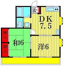 コーポ中野[2階]の間取り