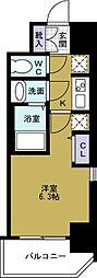 エステムコートディアシティWEST[2階]の間取り
