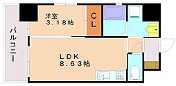サムティ大橋[6階]の間取り